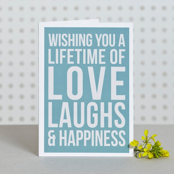 Lifetime of Happiness - Greetings Card