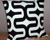 Mod Retro Black and White Decorative Pillow Cover - Available In 3 Sizes
