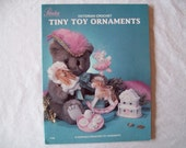 10 Crochet Victorian Tiny Toy Ornaments, Pattern Booklet Paradise publications P 006 Thread Crochet patterns rocking horse, tea set, leaflet