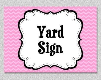Matching Yard Sign