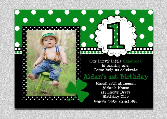 St patricks day birthday invitation 1st birthday st patricks day il570xn stopboris Choice Image