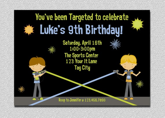 Punchy image with regard to printable laser tag birthday invitations