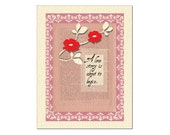 OG-GW1  Original Piece of Art - Collage Vintage Wedding Card - Size A2 with eggshell envelope
