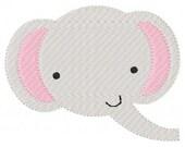 Elephant Embroidery Design Zoo Safari Animal  // Joyful Stitches