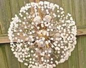 RESERVED for Paula / vintage 60s chandelier - mid century atomic bubble starburst light fixture