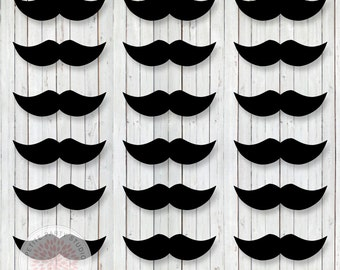 INSTANT DOWNLOAD - Little Man Bow Tie Mustache Bash Printable Mustaches - Birthday or Baby Shower - Petite Party Studio