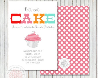 Cupcake Baking Party Printable Invite - Petite Party Studio