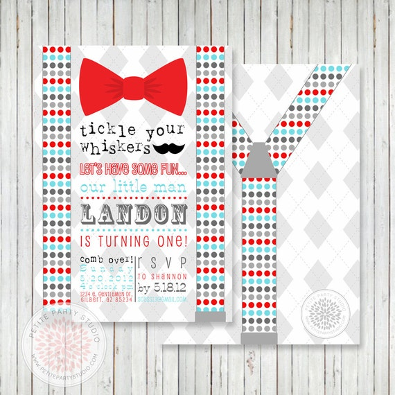 bow tie mustache bash printable by