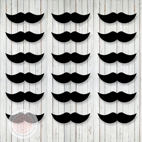 bow tie mustache bash printable mustaches birthday or baby shower