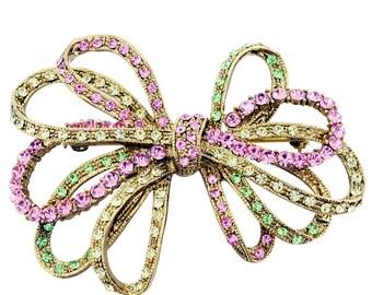 Multicolor Bowknot Pins Swarovski Crystal Pin Brooch 1012491