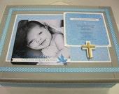 Baptism/Christening Keepsake Box with Cross