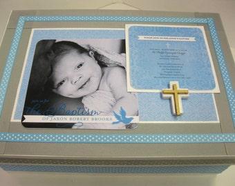 Baptism/Christening Keepsake Box with Your Invitation- Cross