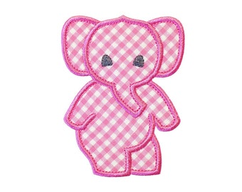 """Dancing Elephant Applique Machine Embroidery Design Pattern in 5 sizes 3"""", 4"""", 5"""", 6"""" and 7"""""""