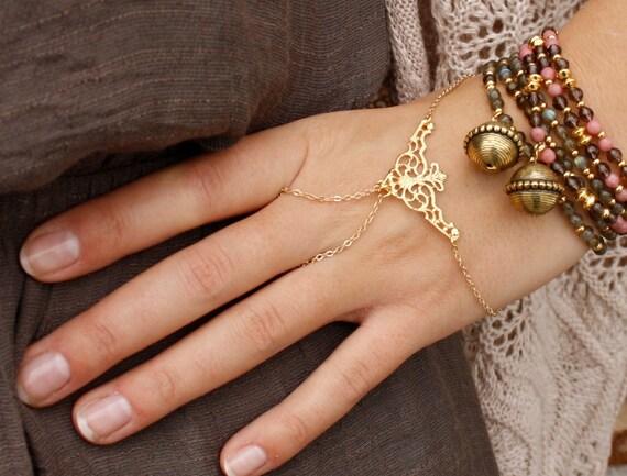 Etsy Chain Bracelet Hand Chain Bracelet Gold