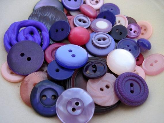 Passion for Purple vintage button destash