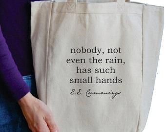 nobody, not even the rain tote bag