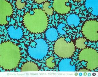 Kaffe Fassett Pinking Flower green blue Westminster Rowan Fabrics FQ or more Rare OOP