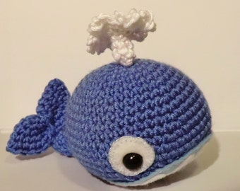 Amigurumi pattern Walter the whale - Flippers and fins crochet pattern set 1