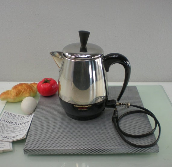 Farberware Automatic Coffee Maker Instructions : Farberware Coffee Pot Superfast Stainless by oldetymestore
