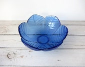 Vintage / ONE Cobalt Blue Glass Bowl  / 10 Available