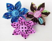 Dog collar Flower or Bow tie  for Dog Collar or Harness- Made to Order- Any Fabric of your choice in my shop.
