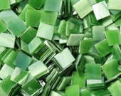 """100 1/2"""" Grassy Green Stained Glass Mosaic Tiles"""