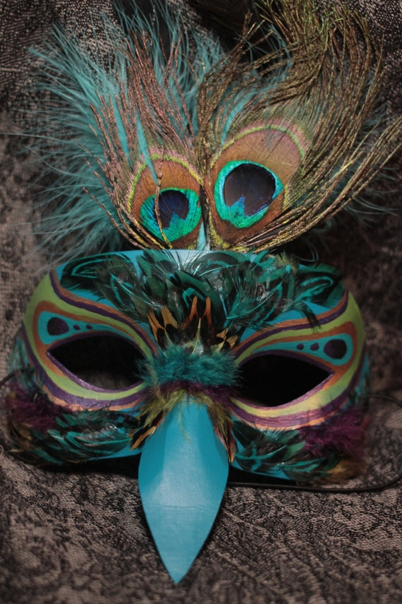 Items Similar To Masquerade Peacock Mask On Etsy