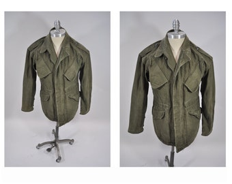 vintage military army field jacket coat small dutch army dated 1968
