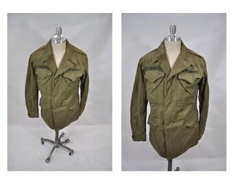 M1943 vintage military army field jacket coat medium regular TAXI DRIVER vietnam 1943 world war II wwIi 36 long small