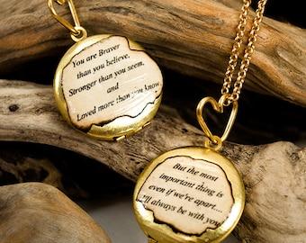 Winnie the Pooh locket pair - bridesmaid gift - best friends lockets - sisters lockets