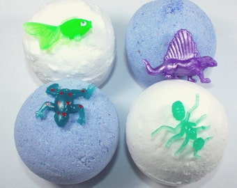 4 full size Bath Bombs with a Toy Inside - easter, prize inside, bath bomb with toy, party favor, birthday, children