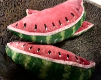 Primitive Folk Art Watermelon Ornies- Bowl Fillers Set Of 3