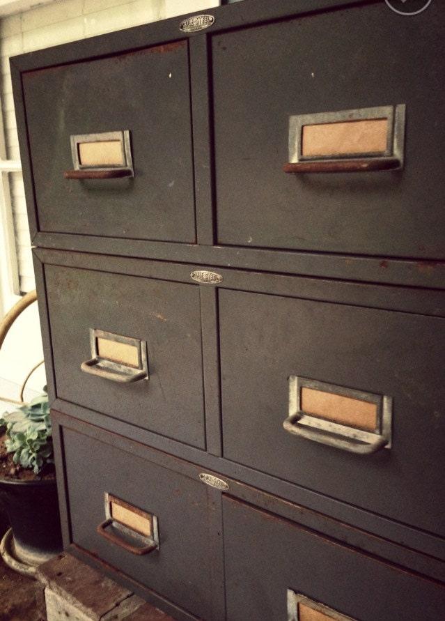 metal file cabinet drawers vintage industrial two drawer. Black Bedroom Furniture Sets. Home Design Ideas