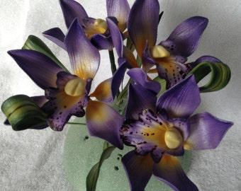Gumpaste Cymbidium Orchid Cake Decoration Lavender Gum Paste