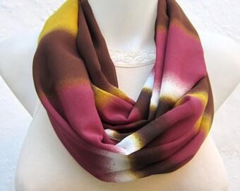 infinity scarf, Shawl Circle Scarf, Loop scarf, Neckwarmer, Chiffon scarf