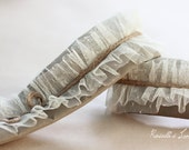 rustic feminine ruffle dslr camera strap cover ruffles with jute twine details