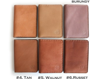 Slim Hand Stitched leather Wallets in BROWN