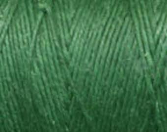 10 Yards Green 4ply Irish Waxed Linen Thread