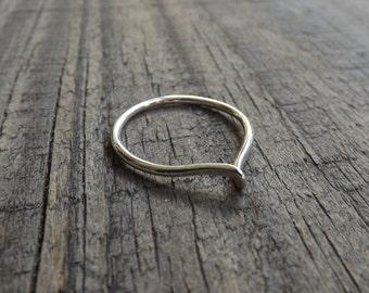 Sterling Silver Twist Ring, Modern Silver Ring, Handmade Twist Ring on Etsy.