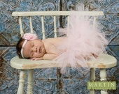 Pink Newborn Tutu - Baby Pink Tutu With Matching Headband Included