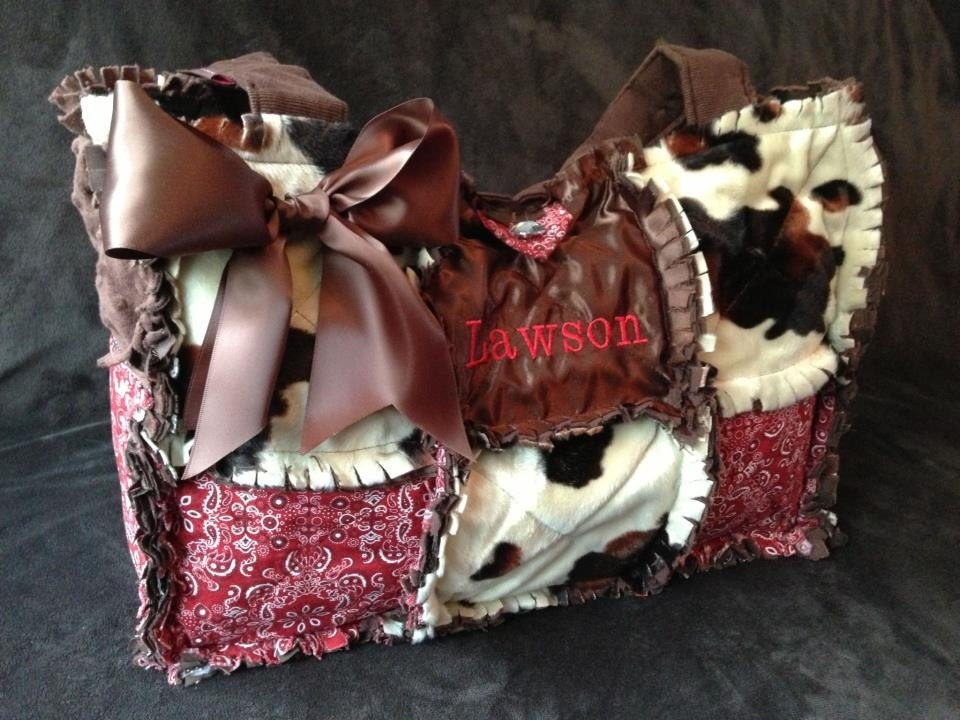 Cowboy Diaper Bags : Cowboy inspired texas brown and pony diaper by