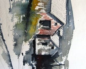 Old Steam Plant - Original Watercolor Painting