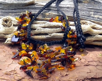 THE DREAM CIRCLE . Baltic Honey Amber . Hand-woven Talisman Necklace