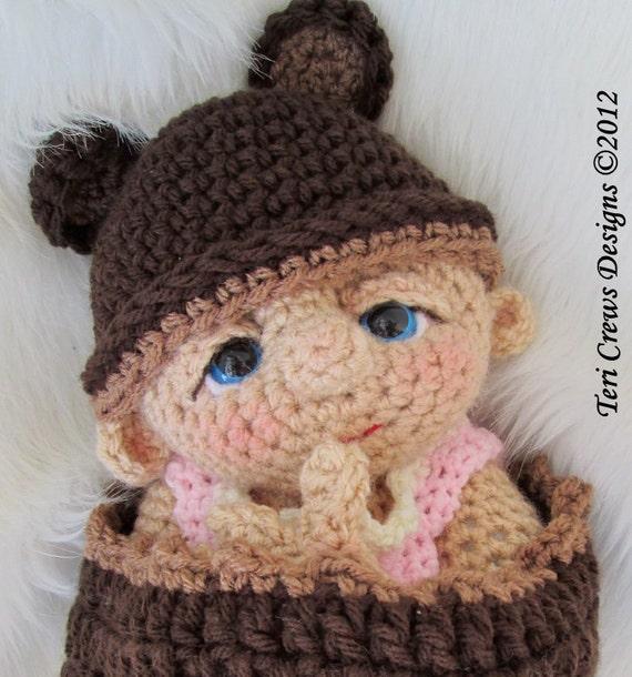 Crochet Pattern For Doll Diaper : Baby Doll Crochet Pattern by Teri Crews PDF format Instant