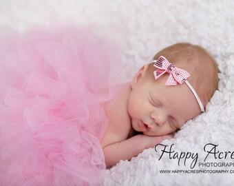 PINK TUTU Set....baby tutu, newborn tutu, baby photography prop, headband included