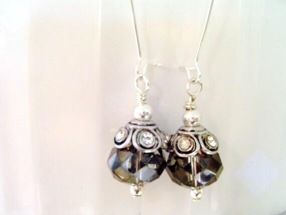 Black Diamond Dangle Earrings Black Diamond Earrings Dangle Earrings Bridal Collection