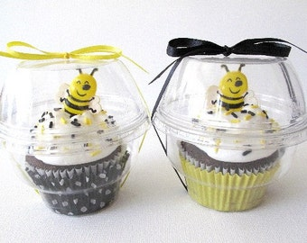 NEW DISCOUNT PRICE 8 Clear Cupcake Boxes Cups Party Favors Weddings Birthdays Baby Bridal Showers