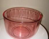 VINTAGE Rose Glass Mixing Salad Serving Bowl