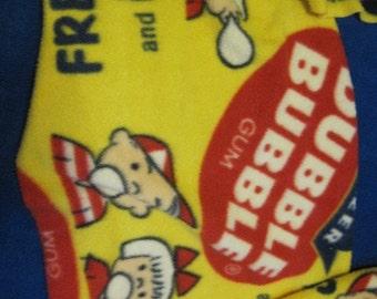 Double Bubble Gum on Yellow Fleece Scarf