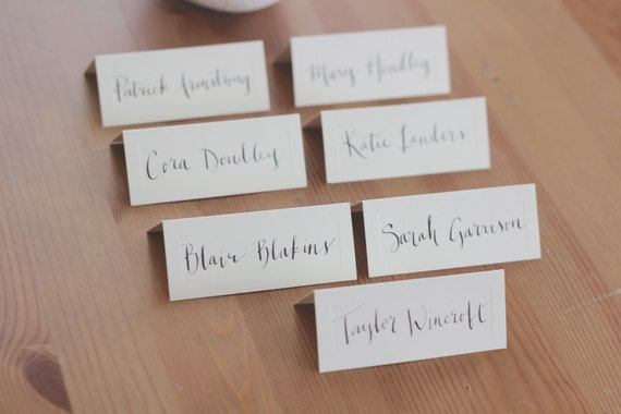 Unavailable listing on etsy for Name place cards wedding